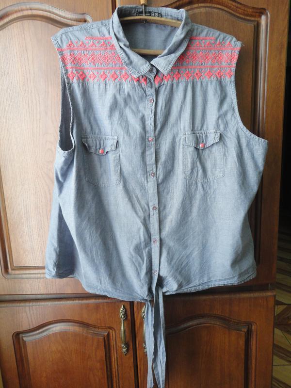 Джинсовая блуза - Фото 2