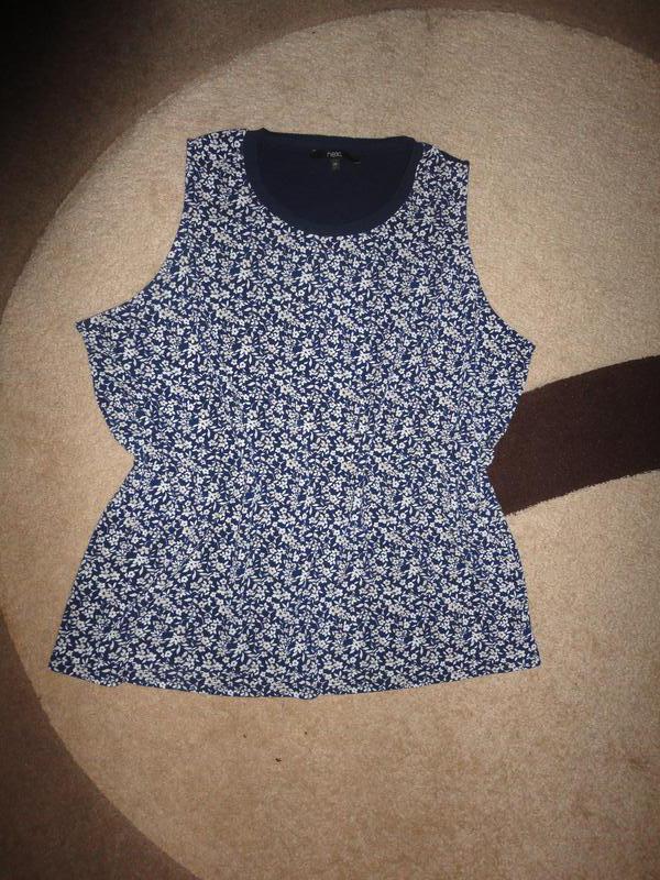 Блуза в цветочек большого размера - Фото 2