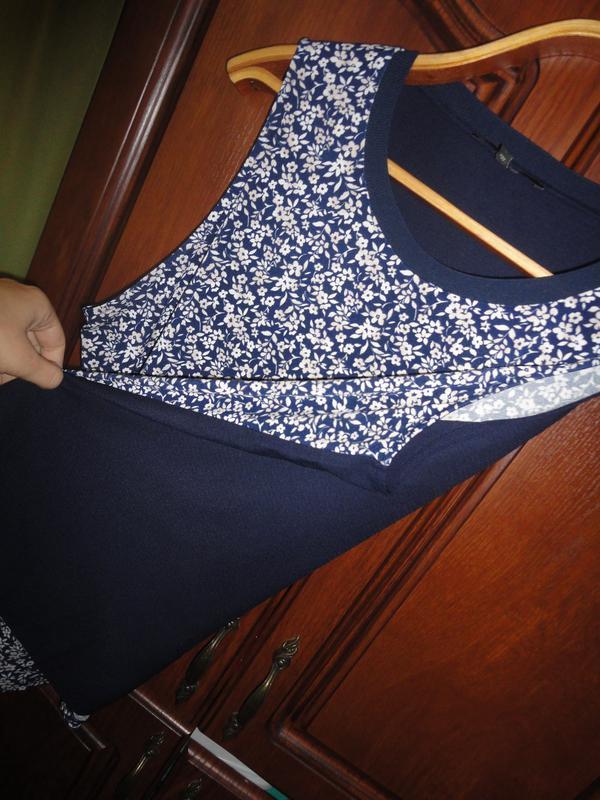 Блуза в цветочек большого размера - Фото 3