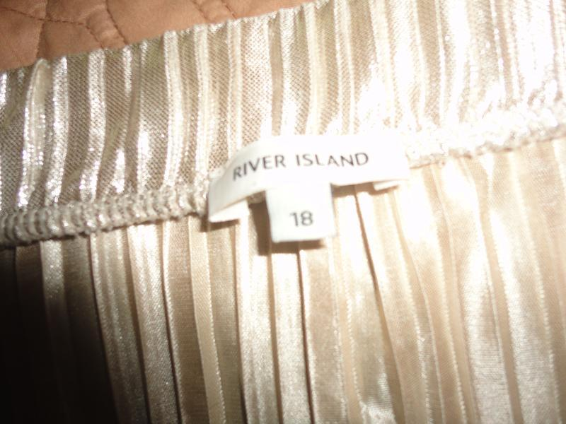 Золотистая блуза гофре - Фото 3