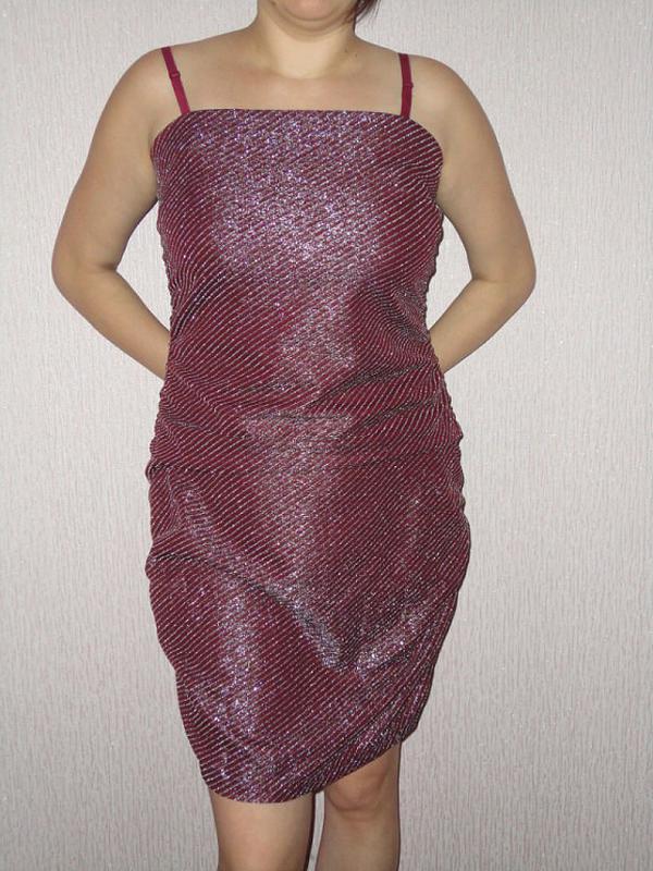 Тренд сезона - вечернее платье с люрексовой нитью - Фото 2