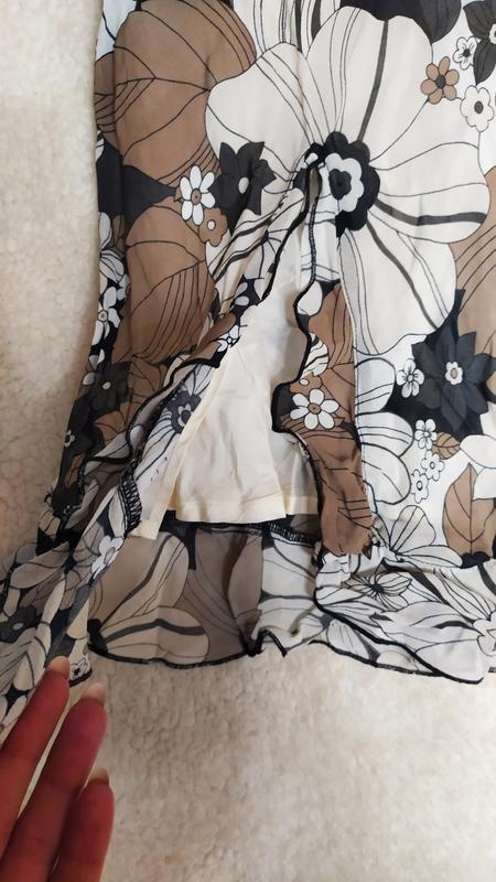 Спідниця з розрізом з воланами у квіти № 49 - Фото 4