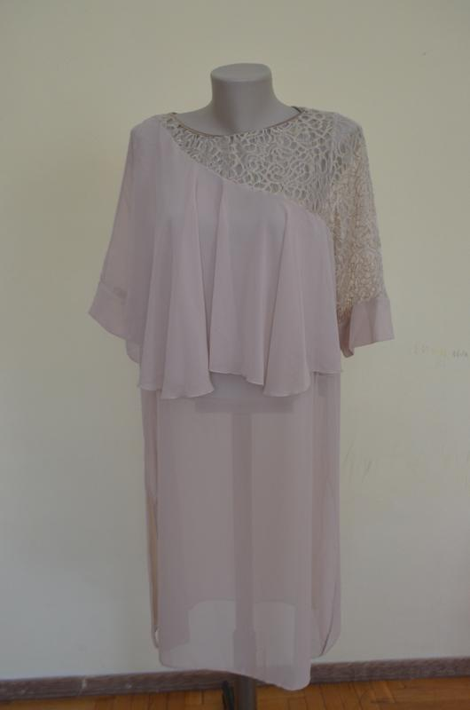 Красивая нарядная туника платье свободного фасона - Фото 2