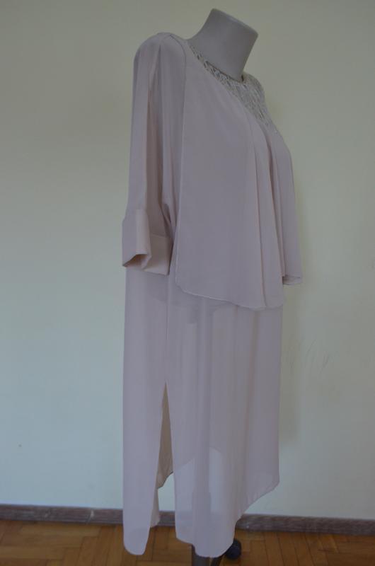 Красивая нарядная туника платье свободного фасона - Фото 5