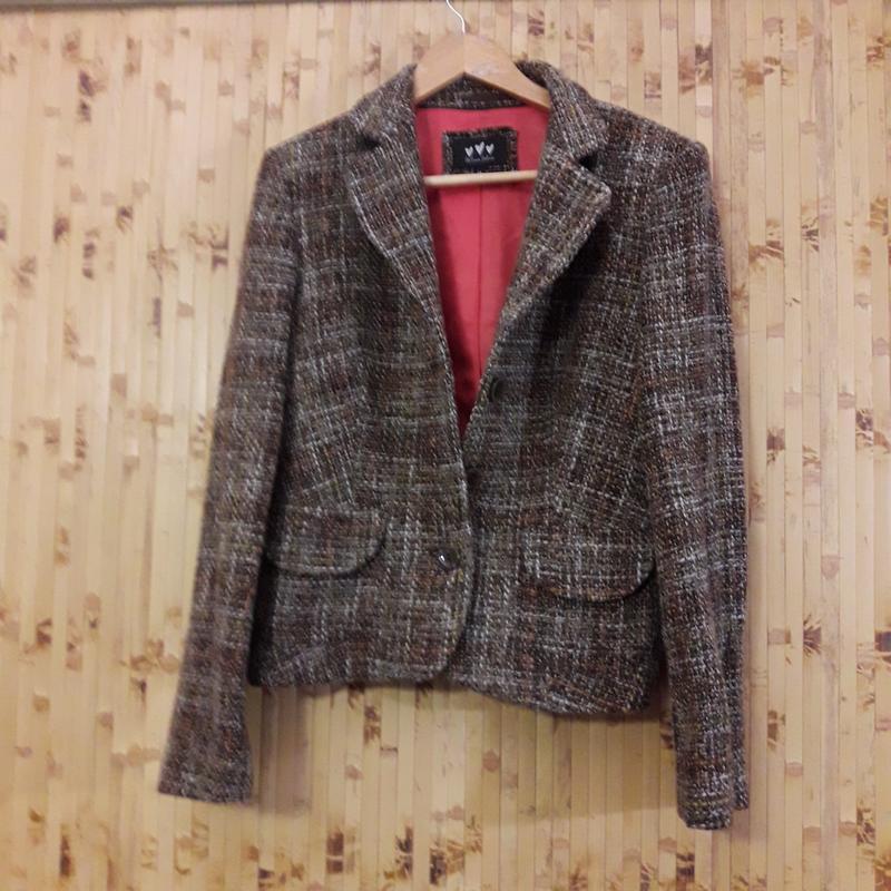 Шерстяной костюм юбка жакет пиджак - Фото 3