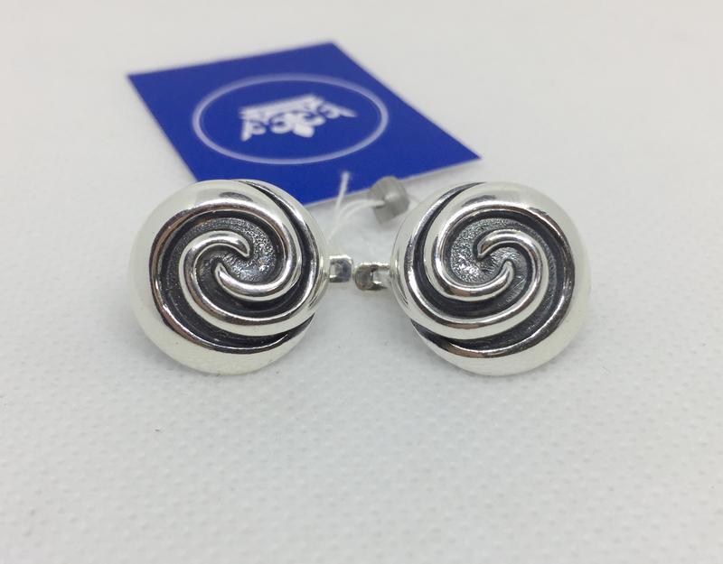 Новые красивые серебряные серьги чернение серебро 925 пробы