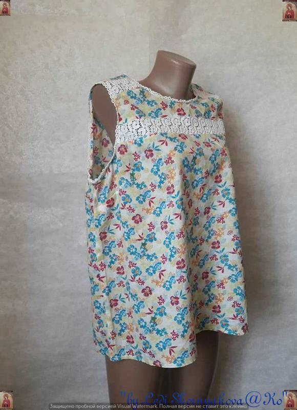 Фирменная tu блуза со 100 %м натурального хлопка в нежный цвет... - Фото 3