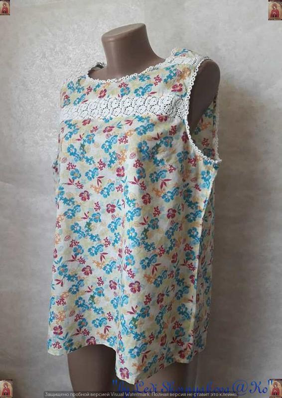 Фирменная tu блуза со 100 %м натурального хлопка в нежный цвет... - Фото 4