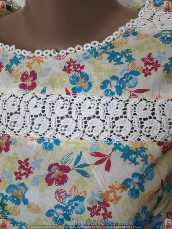 Фирменная tu блуза со 100 %м натурального хлопка в нежный цвет... - Фото 5
