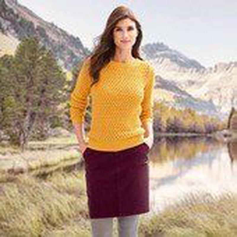 Стильный вязанный пуловер, р. евро 48/50 (укр 54\56