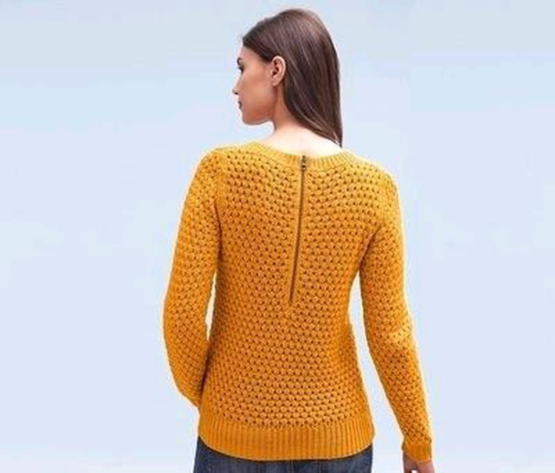 Стильный вязанный пуловер, р. евро 48/50 (укр 54\56 - Фото 2
