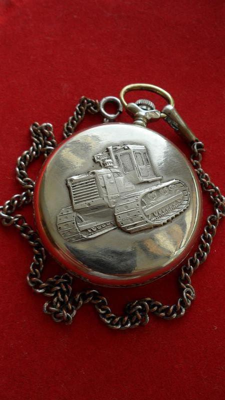 Часы МОЛНИЯ-ТРАКТОР, СССР 70-х. МУЖСКИЕ карманные часы - Фото 8