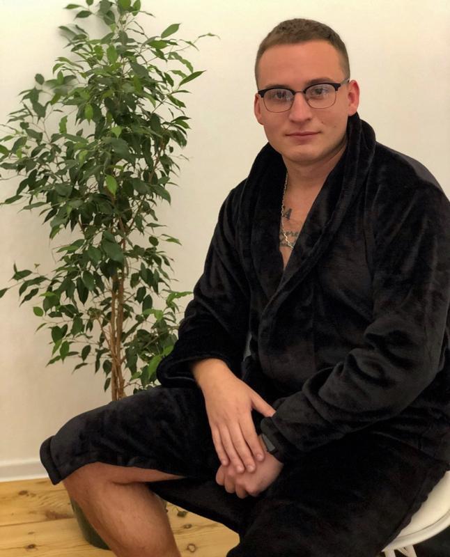 Плюшевый халат с персональной вышивкой - Фото 3
