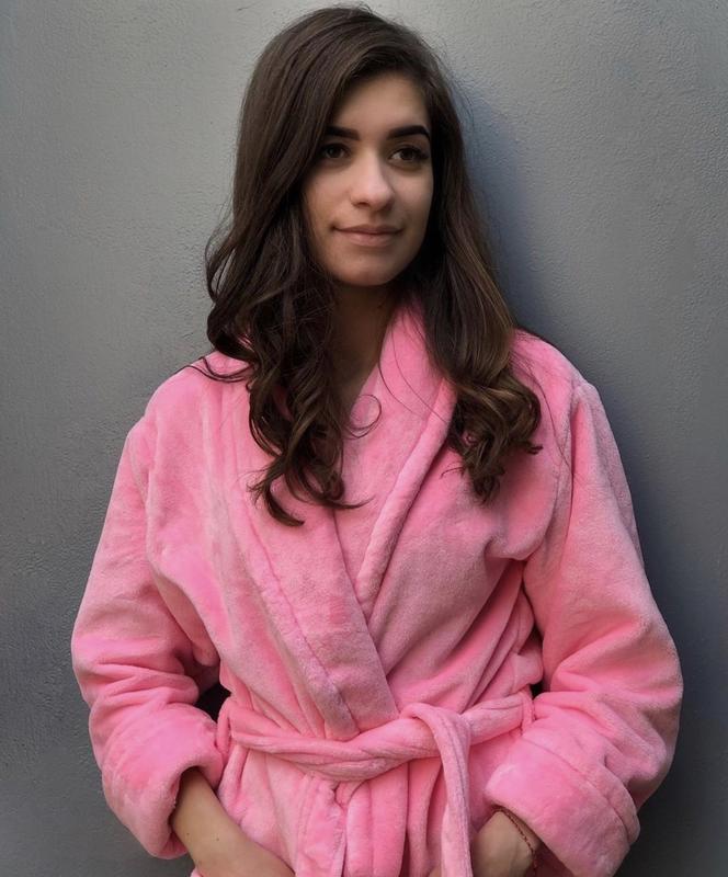 Плюшевый халат с персональной вышивкой - Фото 2