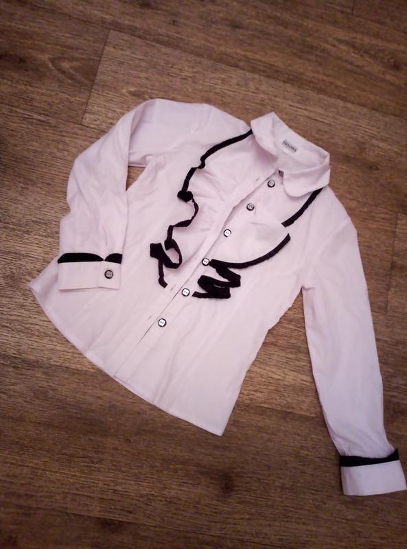 Белая рубашка хлопок нарядная