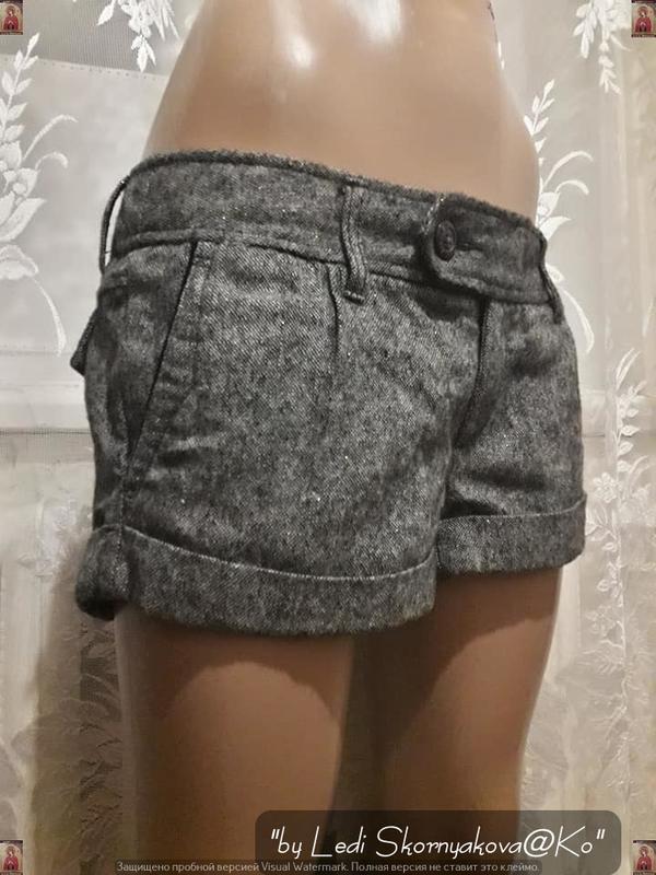 Фирменые american eagle короткие шортики серого цвета с карман... - Фото 4