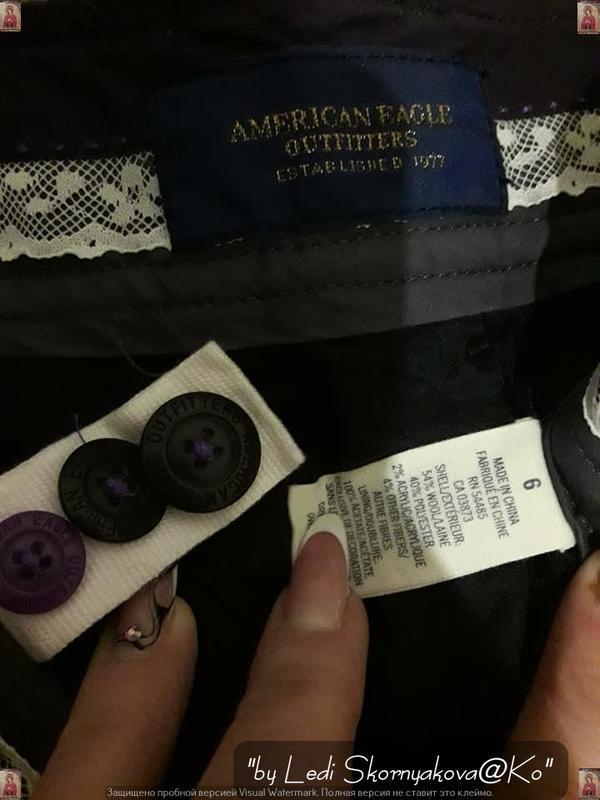 Фирменые american eagle короткие шортики серого цвета с карман... - Фото 5