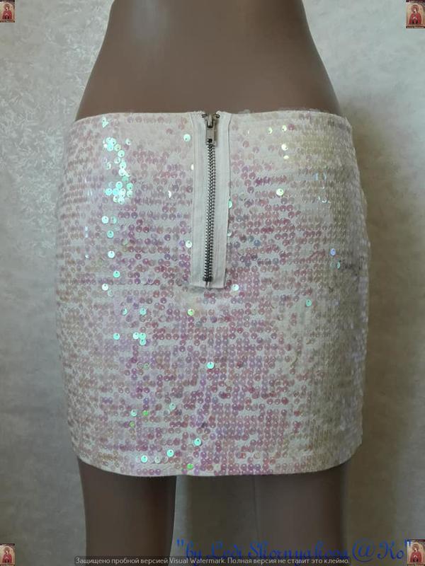 Фирменная topshop стильная модная мини-юбка в паетках, размер м-л - Фото 2