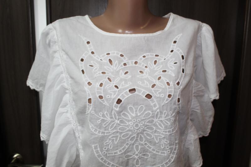 Хлопковая блузка primark в идеальном состоянии 3xl - Фото 2