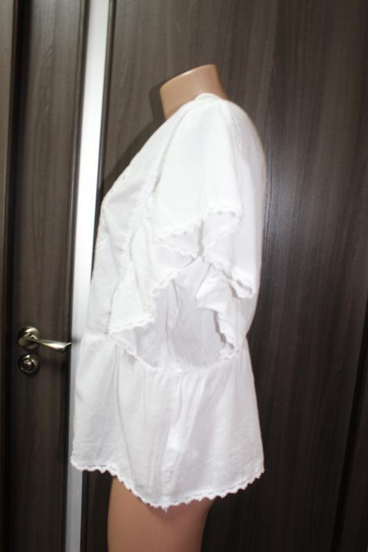 Хлопковая блузка primark в идеальном состоянии 3xl - Фото 3