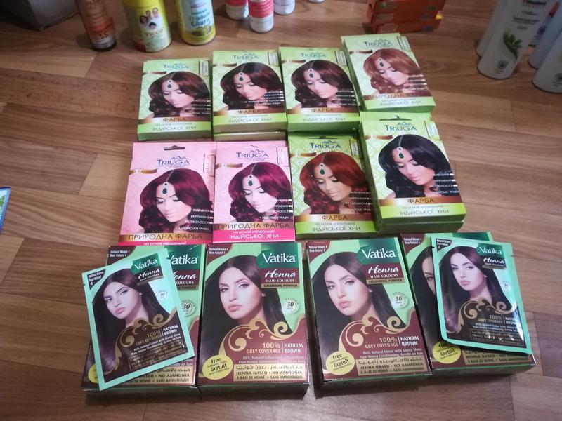 Натуральная краска для волос на основе хны Triuga Herbal