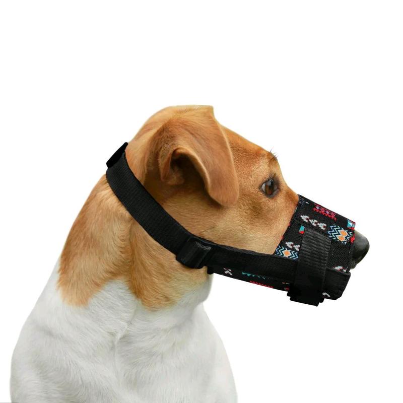 Намордник для собак нейлоновый регулируемый в этническом стиле - Фото 4