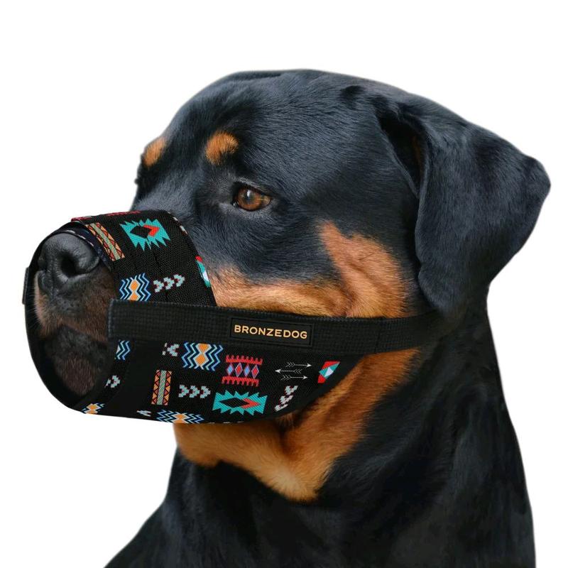 Намордник для собак нейлоновый регулируемый в этническом стиле