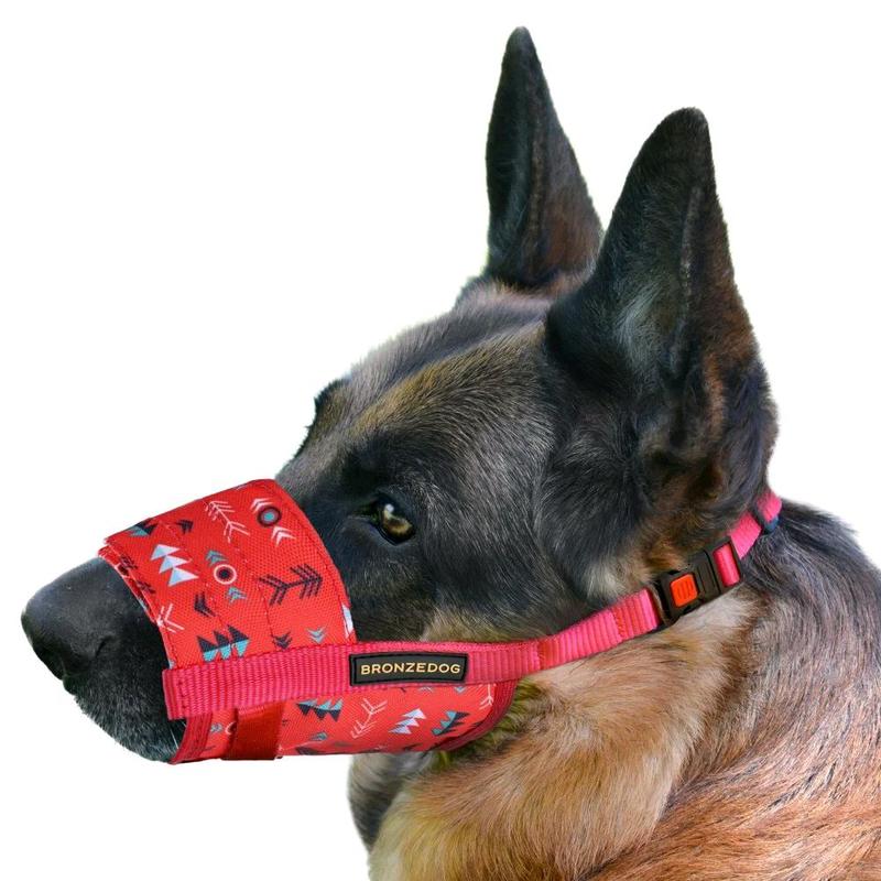 Намордник для собак нейлоновый регулируемый в этническом стиле - Фото 2