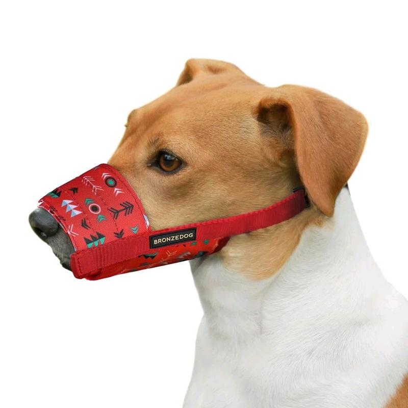 Намордник для собак нейлоновый регулируемый в этническом стиле - Фото 3