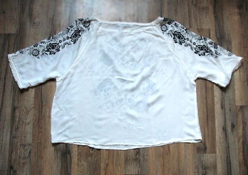 Женственная блуза бохо с принтом и рукавами с прорезями от тм ... - Фото 4