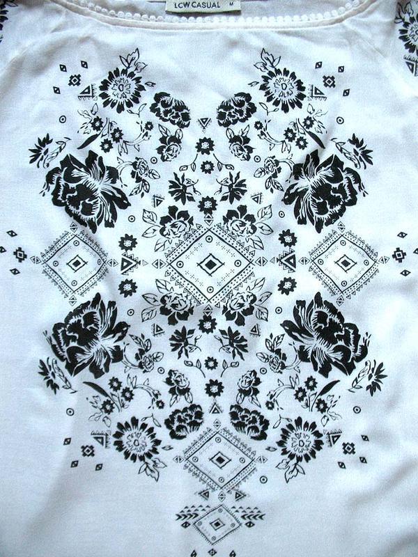 Женственная блуза бохо с принтом и рукавами с прорезями от тм ... - Фото 5