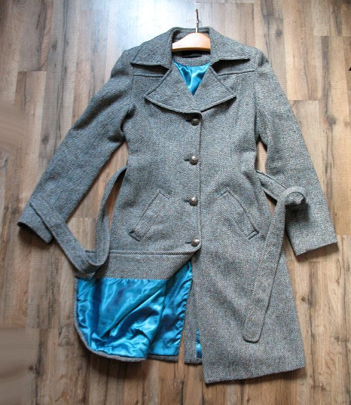 Демисезонное пальто в «елочку»; классика, винтаж от тм vero moda