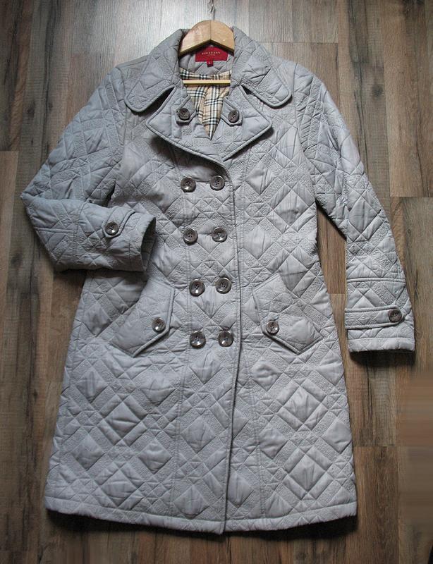 Демисезонное стеганное пальто классического покроя, тренчкот, ... - Фото 2