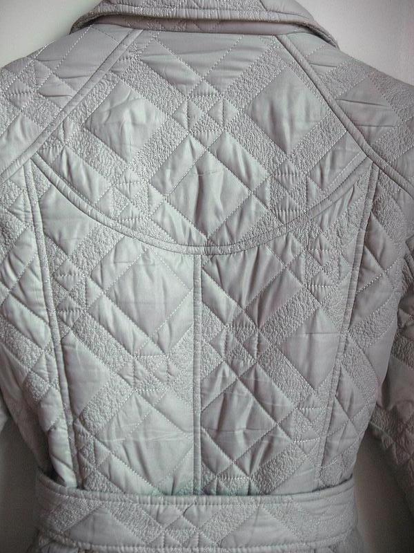 Демисезонное стеганное пальто классического покроя, тренчкот, ... - Фото 4