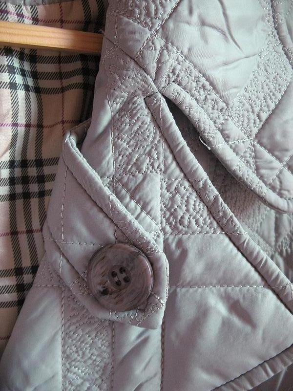 Демисезонное стеганное пальто классического покроя, тренчкот, ... - Фото 5
