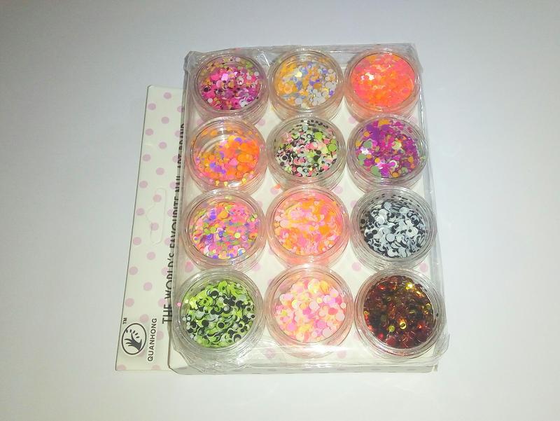 Акция! конфетти камифубики декор для маникюра набор 12 шт