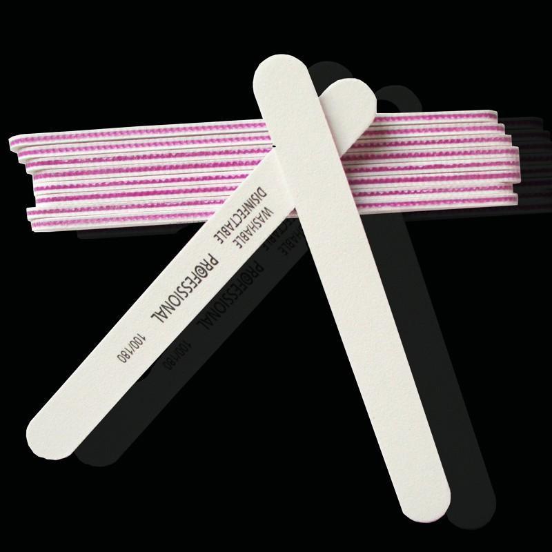 Пилка пилочка для ногтей моющаяся professional 100/180 white