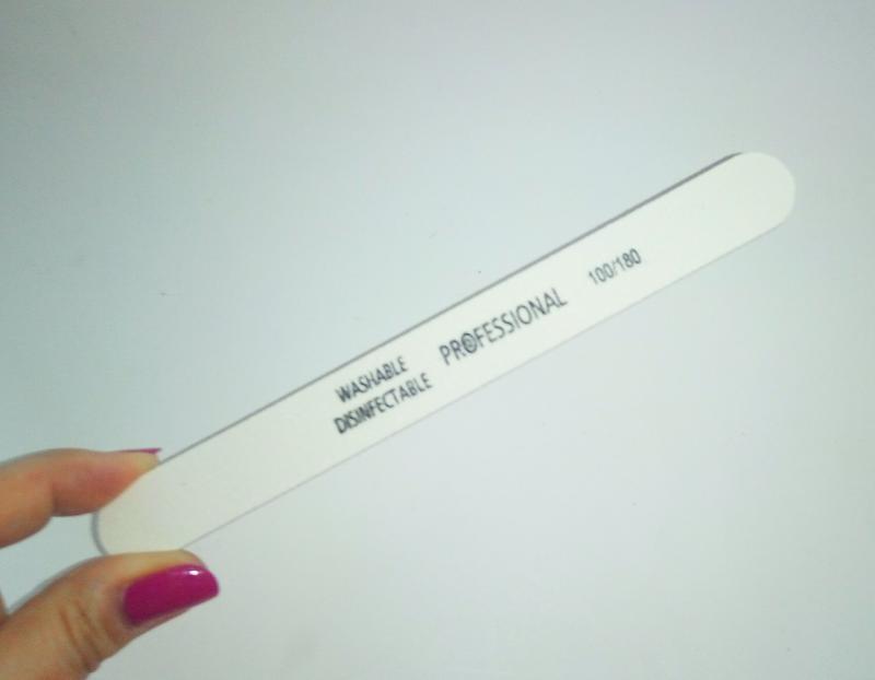 Пилка пилочка для ногтей моющаяся professional 100/180 white - Фото 2