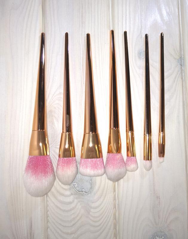 Кисти для макияжа набор 7 шт gold probeauty - Фото 2