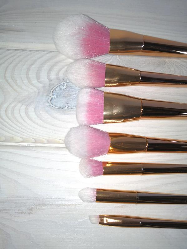 Кисти для макияжа набор 7 шт gold probeauty - Фото 4