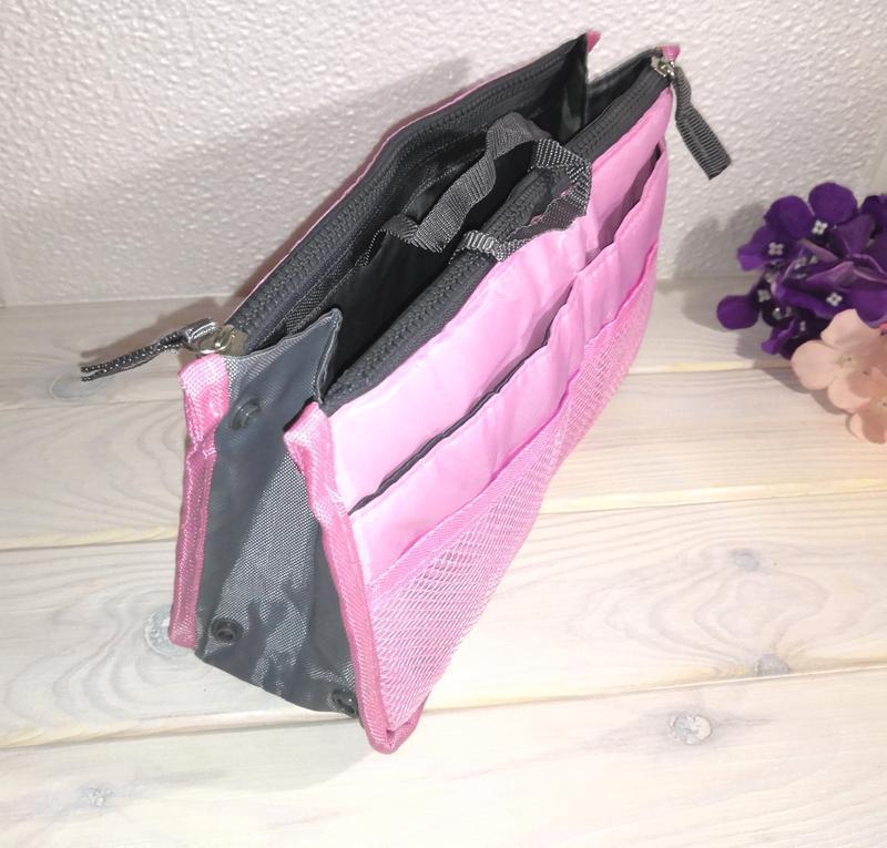 Косметичка органайзер для сумки bag in bag для косметики и акс... - Фото 2