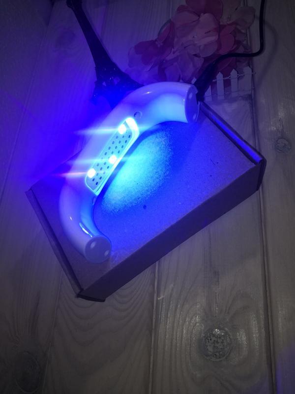 Лампа для ногтей сушилка гель лака usb коробка, led лампа 9w w... - Фото 4