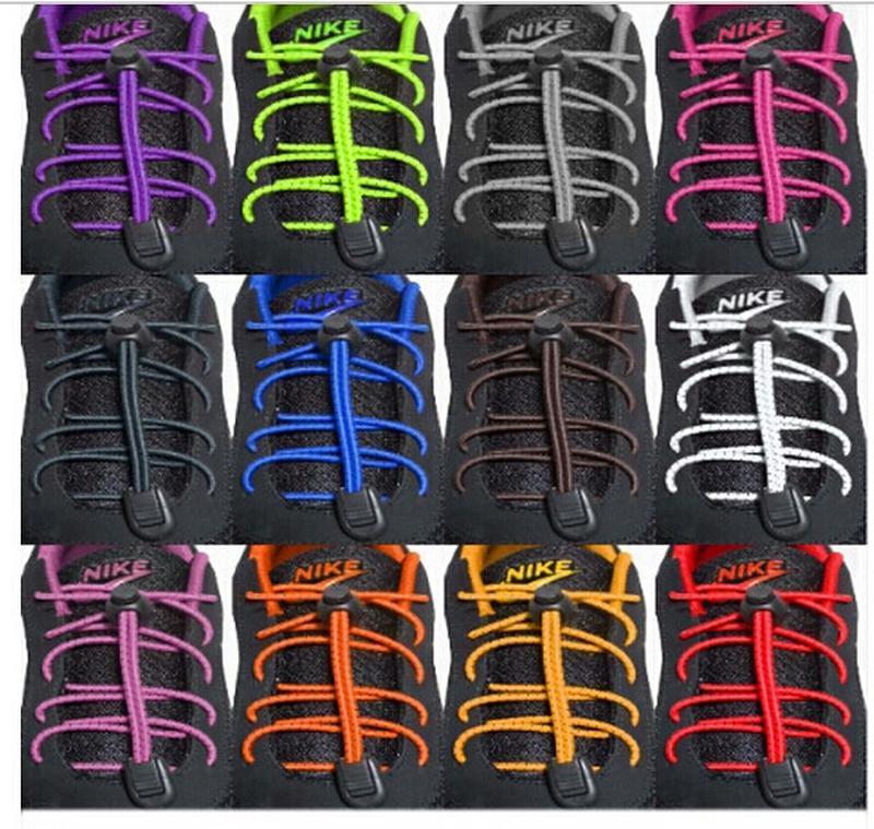 Шнурки для обуви эластичные с фиксатором 1 пара, разные цвета - Фото 2