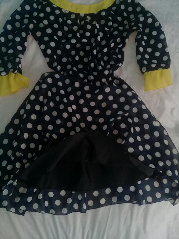 Лёгкое платье монро в горошек - Фото 2