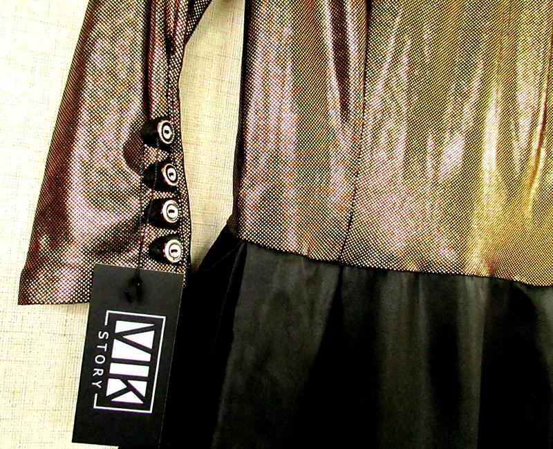Красивое блестящее нарядное платье черно-золотое - Фото 3
