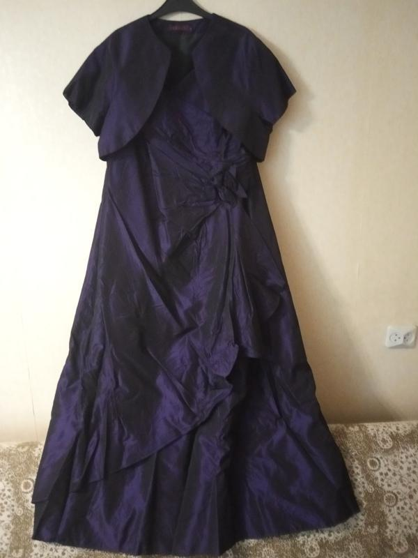 Вечернее нарядное платье с болеро debenhams debut uk 18 р.52-54 - Фото 4