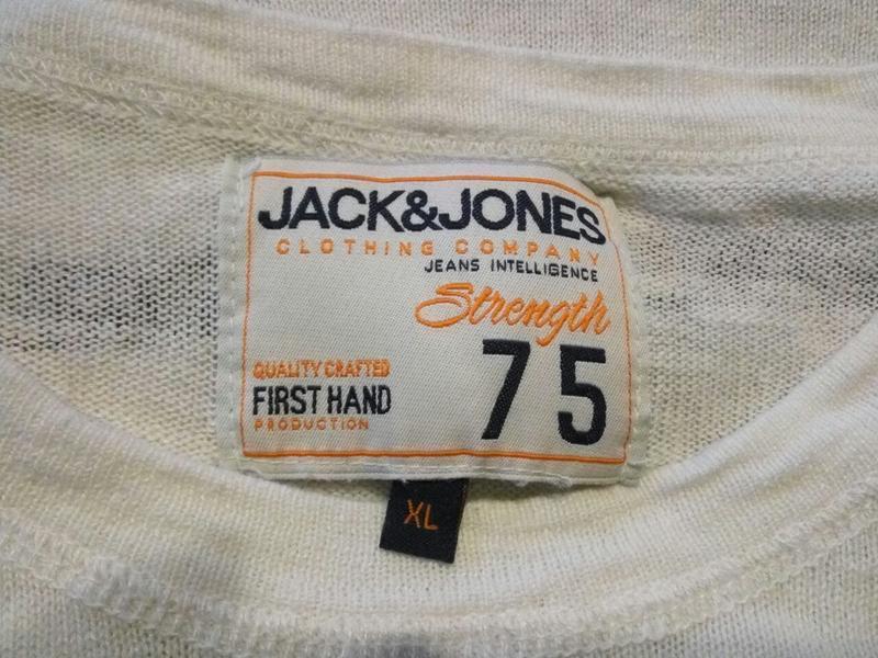 Jack & jones . 55% хлопок 45% лен . легенький свитер джемпер п... - Фото 3