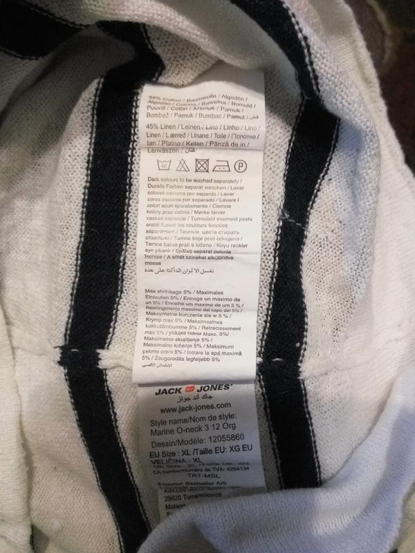 Jack & jones . 55% хлопок 45% лен . легенький свитер джемпер п... - Фото 5