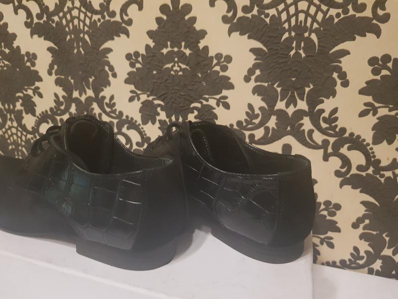 Туфли натуральная замша и кожа - Фото 10