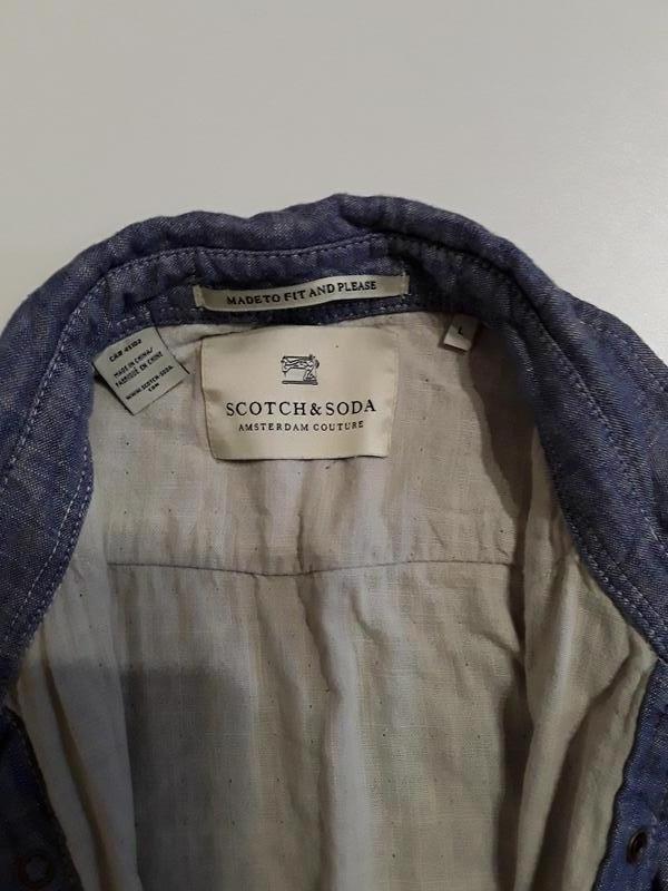 Фирменная рубашка l - Фото 3